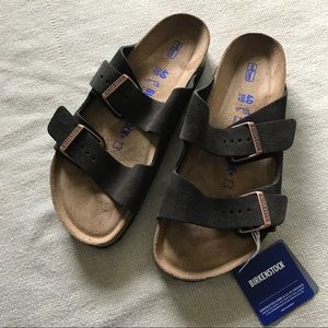 NEW Birkenstock Suede Arizona Sandals SZ 40